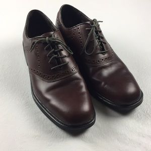 Nunn Bush saddle back oxfords comfort gel wing tip